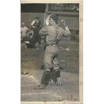 1923 Press Photo John Simmons catcher from Washington