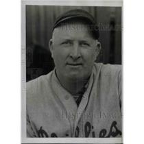 1934 Press Photo James T Elliot, pitcher for Philadelphia Nationals