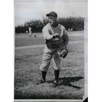 1934 Press Photo Hormidas Aure Pitcher NY Yankees