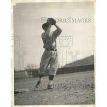 1930 Press Photo Stewie Clark Infielder Pittsburgh Pirates Spring Training MLB