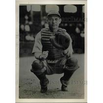 1931 Press Photo John Heving, Catcher for Philadelphia Athletics