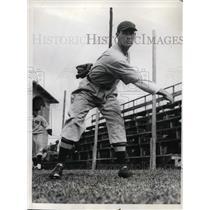 1935 Press Photo Byron Humphreys Boston Red Sox Spring Training