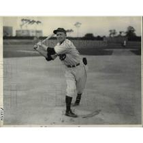 1936 Press Photo Woodley Abernathy Phillies Spring Training Winter Haven, FL
