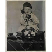 1934 Press Photo Larry French Jr., Son of Larry French of Pittsburgh Pirates