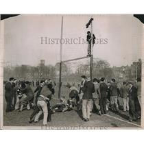 1931 Press Photo Rag in Progress before Rugby Match, St Marys and Bartholomew