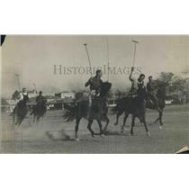 1920 Press Photo Polo Match Action Shot