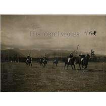 1923 Press Photo  A polo match on a pich in progress