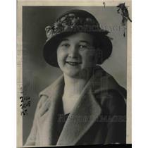 1923 Press Photo Florence Johnson of Chicago - nea58668