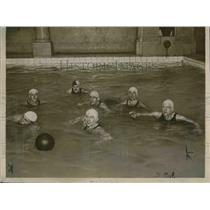 1923 Press Photo US water polo , Gardner,Steiger,Resleure, Smith.Goodman,Schultz