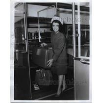 1968 Press Photo Specially Designed Luggage Rack CTS Airporter Transit Car
