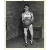 1943 Press Photo High school basketball player Al Francesconi
