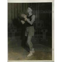 1927 Press Photo Bob Watson, Columbia University Basketball, Guard New York City