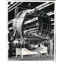 Press Photo Fuselage section for a USAF C-141 plane at Lockheed Corp. in Ga.