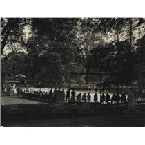 1922 Press Photo Tennis Match at White House, Washington, D.C.