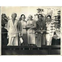 1931 Press Photo Lee Arnold Katherine Salvage Sally Bell Aiken Sports Carnival