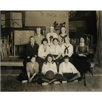1920 Press Photo Goodyearschool basketball girls team