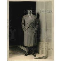 1928 Press Photo Harold Horan, Paris corrwespondent in Belgium
