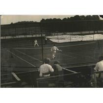 1921 Press Photo Tennis Match at Newport, Rhode Island