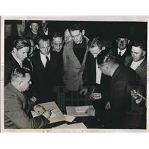 1938 Press Photo Sudeten German Refugees from Czechoslovakia in Klingental