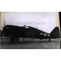 1961 Press Photo A P-47 Thunderbolt fighter plane