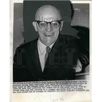 1968 Press Photo George Halas During News Conference Announcing Retirement