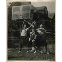 1929 Press Photo Game of Basketball Women's College of Brown University