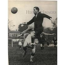 1924 Press Photo French Football Association Player in Action at Bergere Stadium
