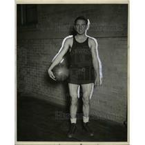 1926 Press Photo Eddie Herte, Marquette University Forward