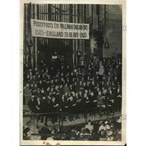 1920 Press Photo Great Strength of Britain Movement demonstration, Central Hall