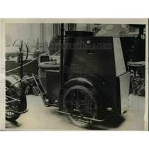 1926 Press Photo German radio set attached to motorcycle