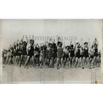 1923 Press Photo Physical Training Exercises in Miami Beach - nea65937