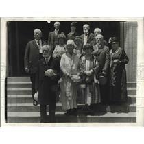 1920 Press Photo Six couples celebrate Golden Wedding Anniversary, First Baptist