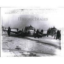 1961 Press Photo Pittsburgh, Pa. belly landing by F. Balcar's plane - nea73434