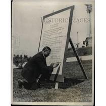 1924 Press Photo Governor Charles Habey Utah Yellowstone Park Opening