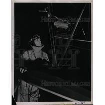 1936 Press Photo Johnny Martin, Boeing school of Aeronautics & his plane