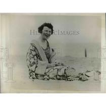 1929 Press Photo Mrs. A. Mitchell Plamer at Miami Beach Florida