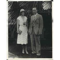 1930 Press Photo Mr & Mrs Hull Platt Maynard of Conneticut