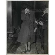 1938 Press Photo Johanna Hofmann Convicted of Nazi Espionage, New York City