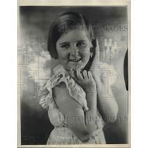 1933 Press Photo Lorraine Adams Sister Of Burmah India