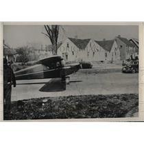 1941 Press Photo Pilot Herbert Reynolds On Runway At Cleveland Airport
