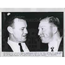 1961 Press Photo Minn. Viking coach Norm Van Brocklin & QB George Shaw