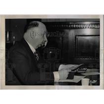 1937 Press Photo Chester Hanson testifies regarding Civil Liberties