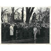 1931 Press Photo Communists stage a demonstration in front of WhiteHouse