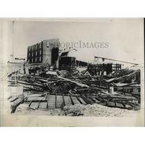 1930 Press Photo Hutchinson,Kansas wreckage of Carey Salt plant after tornado
