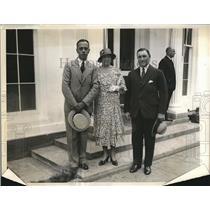 1932 Press Photo S African Minister NC Havenga & wife & Eric Louw - nea90932