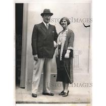 1932 Press Photo Mr. and Mrs. A.S. Hart of Havana Cuba