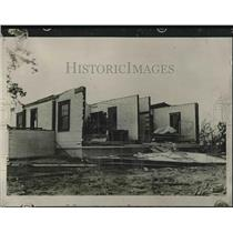 1927 Press Photo Tornado damage in Hutchinson. Kansas