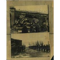 1923 Press Photo Major General Allen US Military In France
