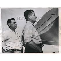 1949 Press Photo Art Sampson Merle Ralston North Dakota Flying Instructors