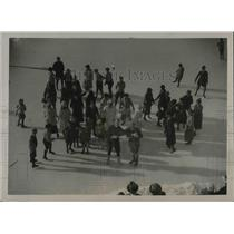 1923 Press Photo General View Of Belvedere Rink During Winter Sports Games